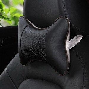 Image 3 - 1 枚のカーシートのヘッドレスト頭頸部枕快適なソフトパッド頸部サポートクッション車の首枕自動ヘッドで車の枕