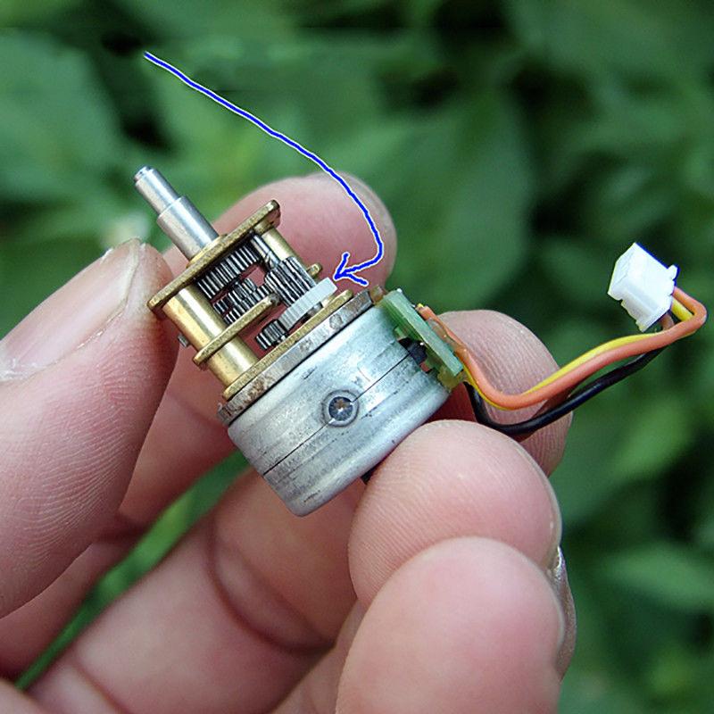 Микро-15 мм 2-фазный 4-проводной Мини Металлические точные сокращения Шестерни коробка Шестерни шаговый двигатель соотношение 1:33