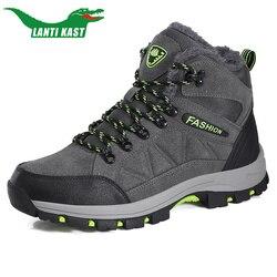 Botas de los hombres de invierno de los hombres con zapatos de botas para la nieve caliente zapatos de trabajo zapatos de calzado de los hombres de goma de moda Zapatos de tobillo seguridad erkek bot35-47