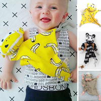 Hot Sale Baby Bib New Cotton Lovely XO Banana Monkey Soft Bibs Baby Comfort Towel