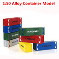 1:50 alloy model container, high simulation children's educational toys, free shipping