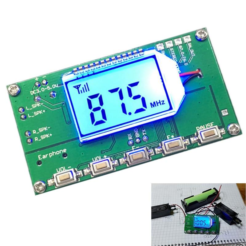 87.0 MHz-108.0 MHz FM Module Récepteur Sans Fil Fréquence Modulation FM Radio Recevant Bord BRICOLAGE Numérique De Stockage