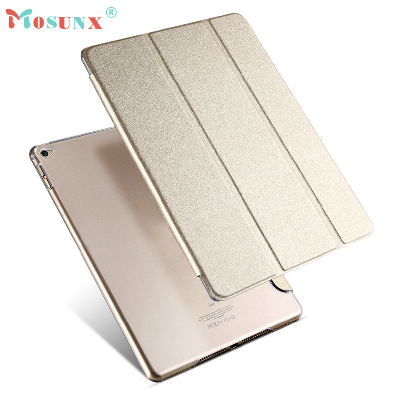 Hot-sale MOSUNX Foldable Tablet Case Cover Luxury Smart Sleep Wake UP Flip Leather Case Cover Holder Stand For iPad Air 2 Gifts ultra thin for ipad air 2 case pu leather smart stand cover universal auto sleep wake up flip 9 7inch case for ipad air 1 2