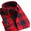 Бесплатная доставка 2017 новых осенью мужские фланелевые рубашки мужчина случайно плед согреться рубашки тонкий рубашки мужские Плюс размер S-4XL 40z
