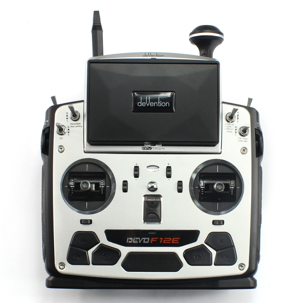 F09070 Walkera Devo F12E Transmitter Radio 32 channel 5.8GHz with 5″ LCD Display for H500 X350 pro X800 RC Drone Quadcopter FS