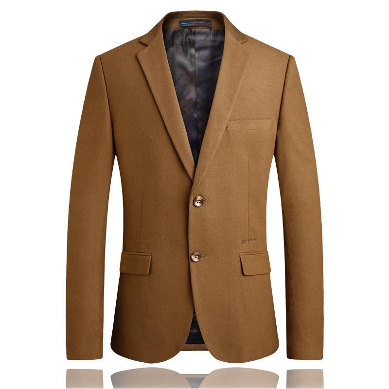 Пиджак Новинка осени Мужская мода Хаки haute couture Блейзер Большие размеры S-4XL мужские pioneer для бизнес на каждый день Slim Костюмный пиджак