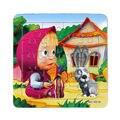 Paper 3D jigsaw puzzles brinquedos para as crianças brinquedos infantis brinquedos Masha Eo Urso Princesa brinquedos educacionais Do Bebê Puzzel Puzles 3D