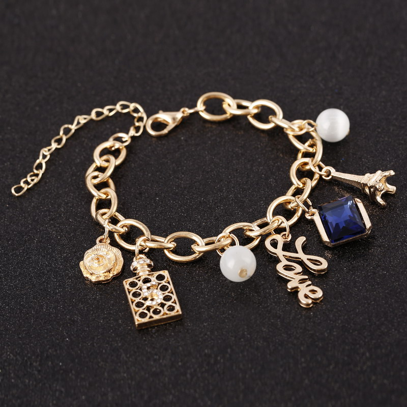Slave Chain Link Finger Ring Bracelet Main Papillon Designs Harnais Bracelet