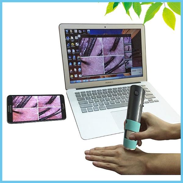 Портативный Wi Fi Цифровые микроскопы 2mp led подсветкой Mini Беспроводной Цифровые микроскопы F Спецодежда медицинская косметологии Средства ух