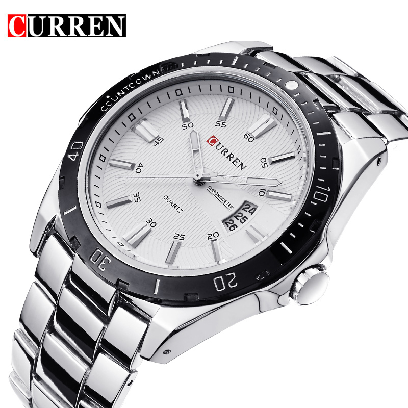 цена на Relojes Hombre 8110 CURREN Mens Watches Top Brand Luxury Wrist Watch Men CURREN Quartz Wristwatches Men Clock Relogio Masculino
