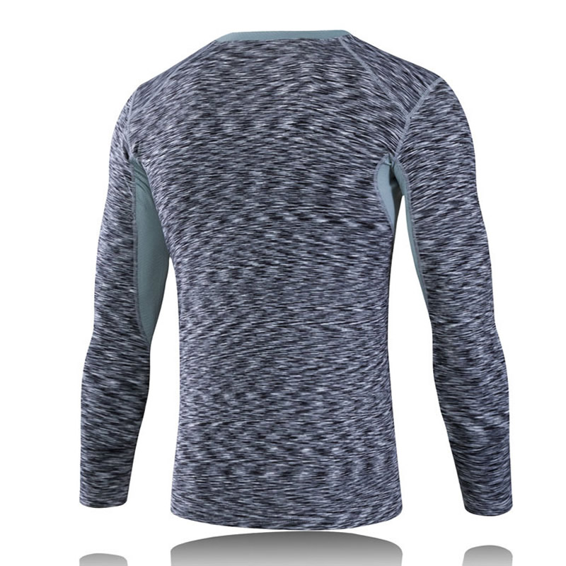 Quick dry T-shirt men tight long sleeve 1