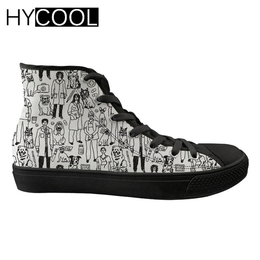 HYCOOL Veterinary Doctors Printing Walking Shoes Women Outdoor Female Sneakers Sport Shoes for Women High Top Gym Shoes FootwearHYCOOL Veterinary Doctors Printing Walking Shoes Women Outdoor Female Sneakers Sport Shoes for Women High Top Gym Shoes Footwear