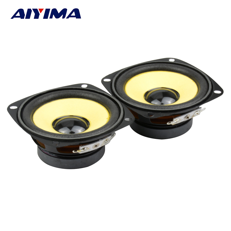 2Pcs 3Inch 4 ohmi 10W Full Speaker HIFI Speakers Audio Spuma Edge Negru Magnetic Multimedia Difuzor DIY Speaker