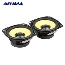 2Pcs 3Inch 4 ohm 10W Full Range HIFI Audio Speakers Gold Foam Edge Black Magnetic Multimedia Loudspeaker DIY Speaker