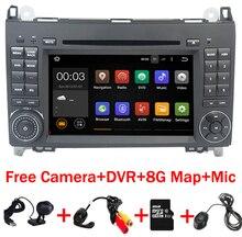 4 ядра 1024*600 2 DIN автомобильный DVD Android 7.1 для mercedes/Benz B200 W169 A160 Viano Vito GPS Navi Радио BT Встроенный Wi-Fi DVR карта
