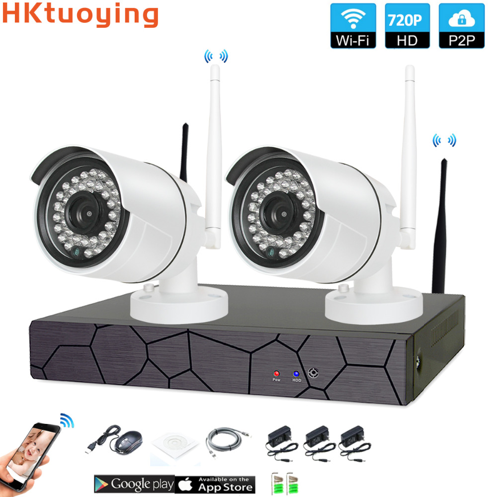 2CH 1080P HD Wireless NVR Kit P2P 720P Indoor Outdoor IR Night Vision Security 1.0MP IP Camera WIFI CCTV System2CH 1080P HD Wireless NVR Kit P2P 720P Indoor Outdoor IR Night Vision Security 1.0MP IP Camera WIFI CCTV System