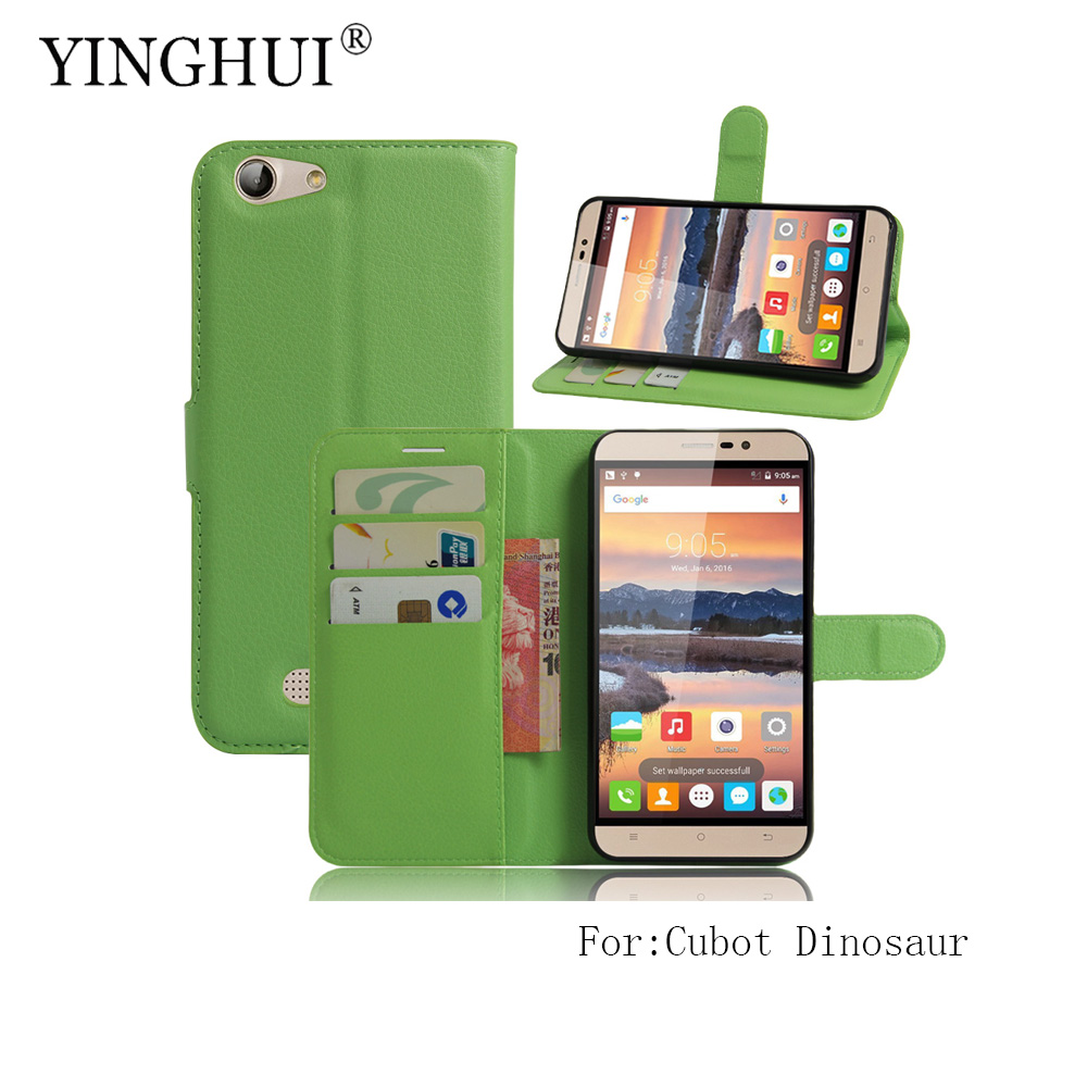 YINGHUI For Cubot Dinosaur / Cubot note s Case Wallet Style PU Leather Mobile Protective Back Cover For Phone Bag Cases