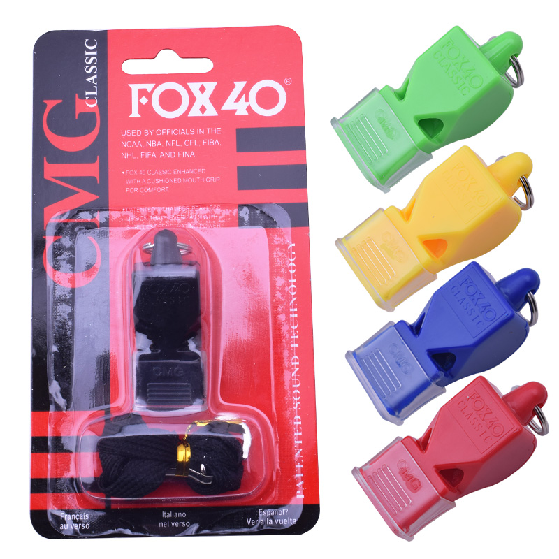 Classic High Quality Fox 40 Plastic Whistle Referee Whistle Sports Soccer Football Basketball Hockey Baseball Outdoor Survival