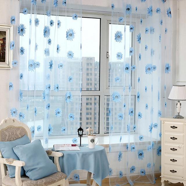 Excellent Dekorative Gedruckt Mesh Vorhang Voile Tr Fenster Balkon Gardinen  Wohnzimmer Kche Vorhnge With Balkon Gardinen