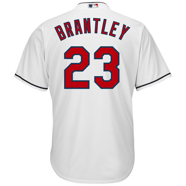 MLB Mens Cleveland Indians Michael Brantley Baseball White Home Cool Base Player Replica Jersey