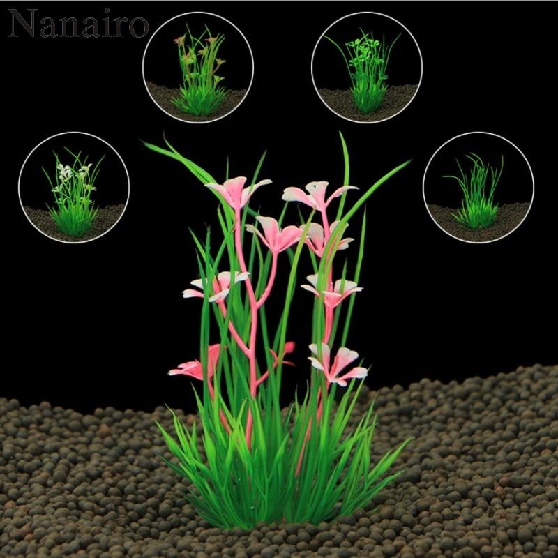 2017 New 13cm Underwater Artificial Aquatic Plant Ornaments For Aquarium Fish Tank Green Water Grass Landscape Decoration