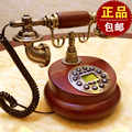 European style wooden retro vintage antique telephone dial disc wireless mobile telephone card Decoration home Dial number