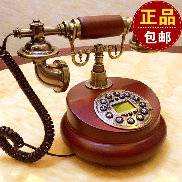 style europ en en bois r tro vintage antique t l phone cadran disque sans fil mobile t l phone. Black Bedroom Furniture Sets. Home Design Ideas