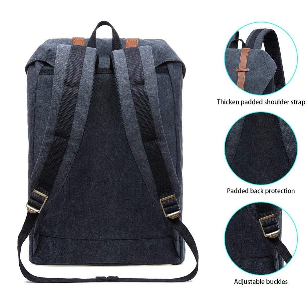 Kaukko Backpacks Women's Daypack Men's Travel School Laptop Bags Waterproof for 15.6
