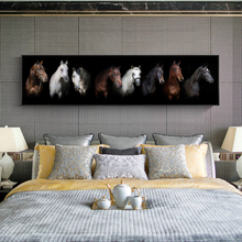 Black and white Horses Wall Art Canvas Prints Moden Animals Posters And Paintings For Bed Room Decor