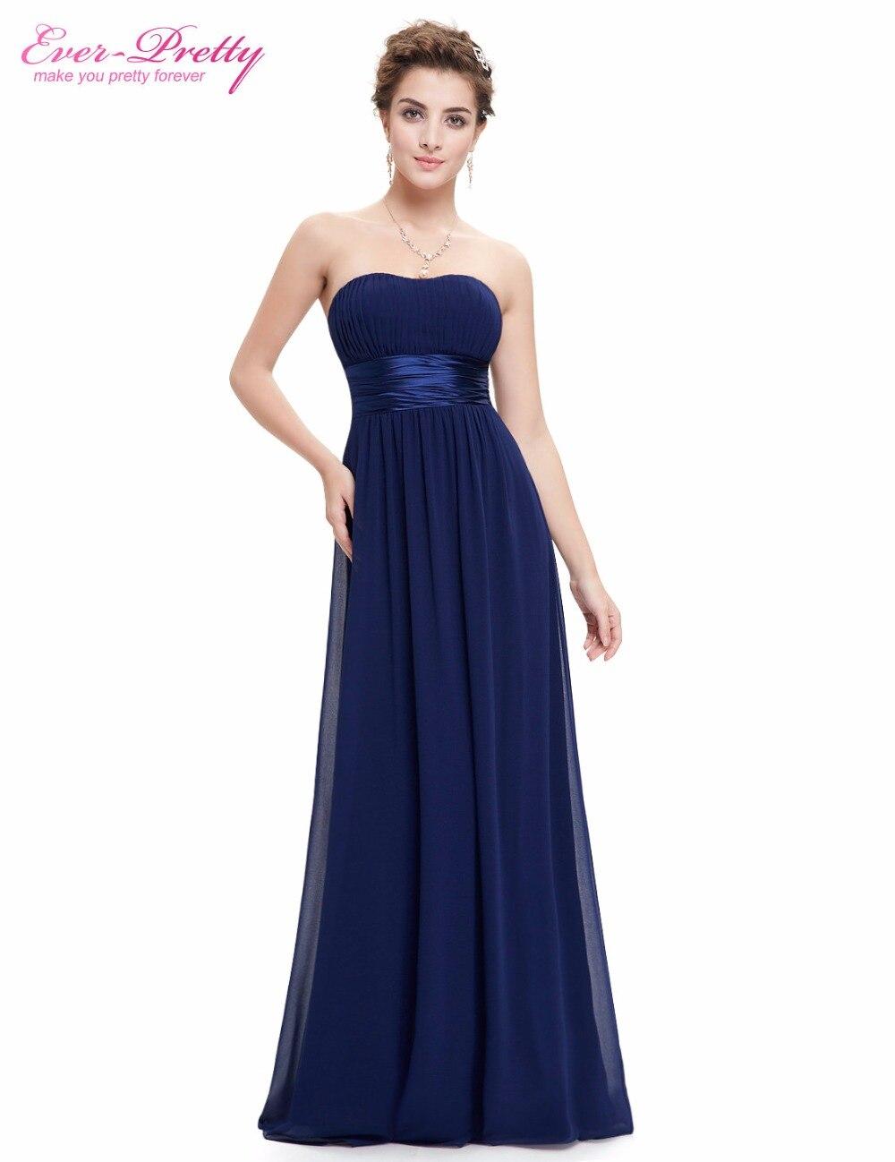 Long black chiffon strapless dress