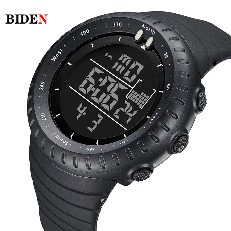 BIDEN Brand Mens Sports Watches LED Military Watch Men Casual Electronics Digital Wrist Watches Mens Gift relogio masculino