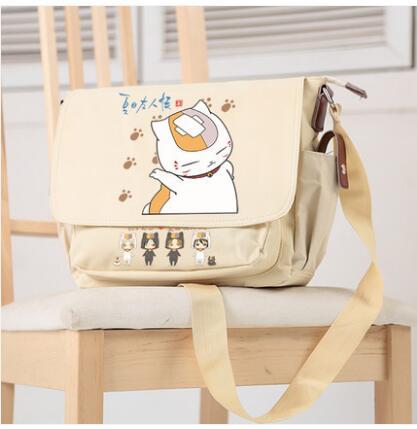 Anime Natsume Yuujinchou Student campus men and women casual fashion shoulder bag Messenger bag birthday gift недорго, оригинальная цена