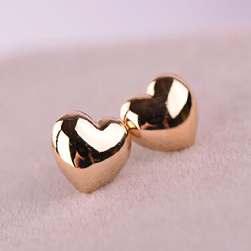 earrings earring cool rose girls unique gift gold product hugerect heart love cute stud simple