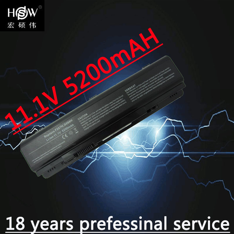 HSW 5200MAH Replacement Laptop Battery F287F R988H F287H F286H For Dell Inspiron 1410 Vostro A840 A860 Vostro 1014 1015 1088