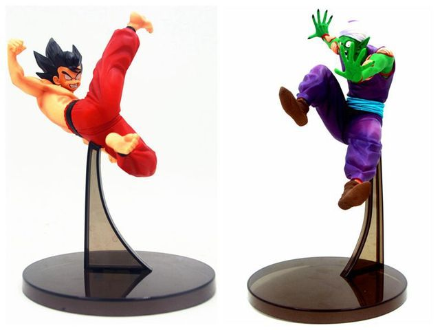 20-25 cm Japonês figura anime Dragon Ball Fabricante de Partida Son Goku VS Piccolo action figure collectible modelo brinquedos para meninos