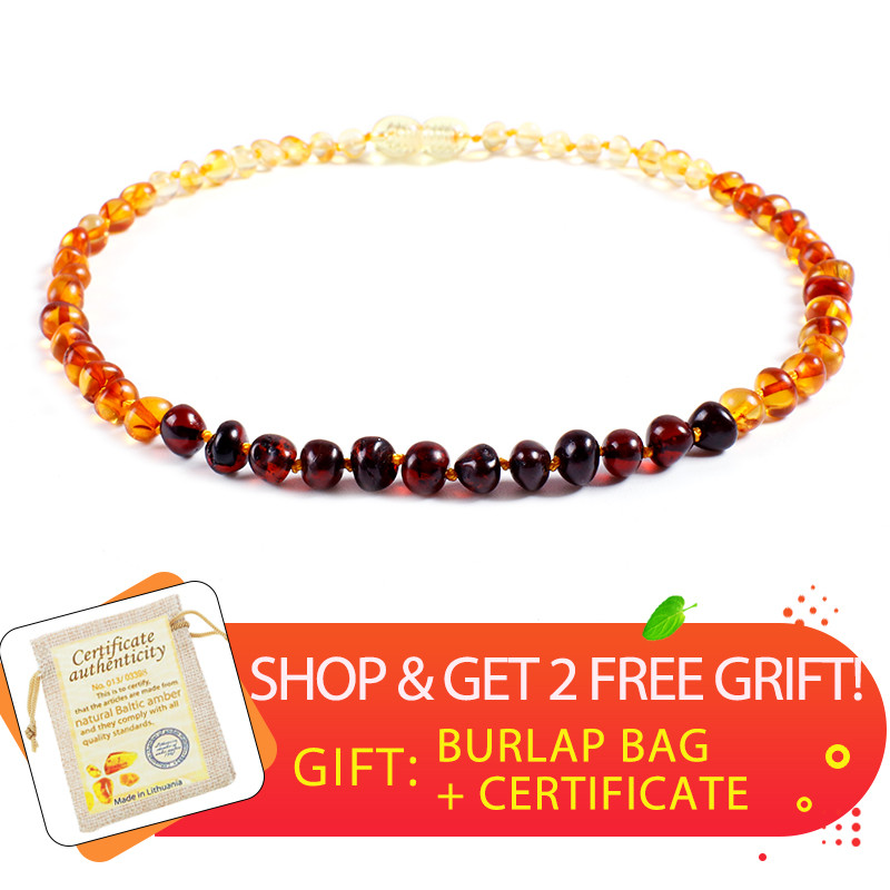 Wholesale Original Amber Necklace For Kids Adult Natural Beads Baby Amber Teething Necklace Baltic Amber Jewelry Certificate