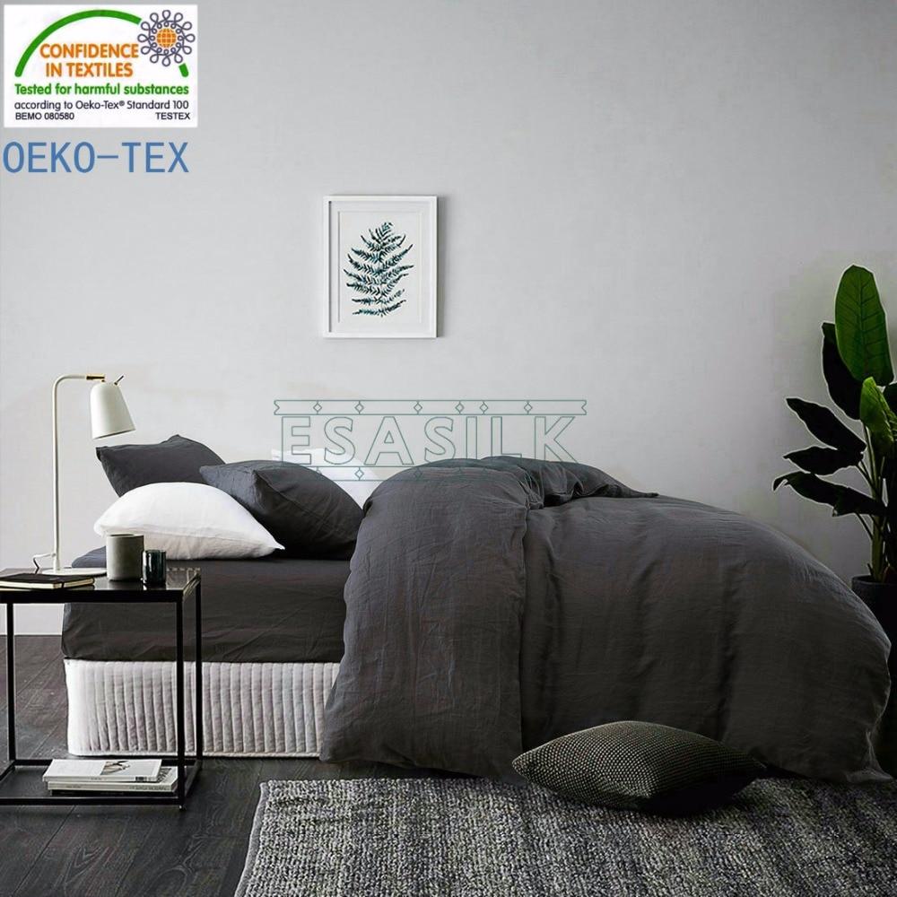 100% French Linen Duvet Cover Linen Bed sets 3pcs/lot multicolor Linen Quilt cover