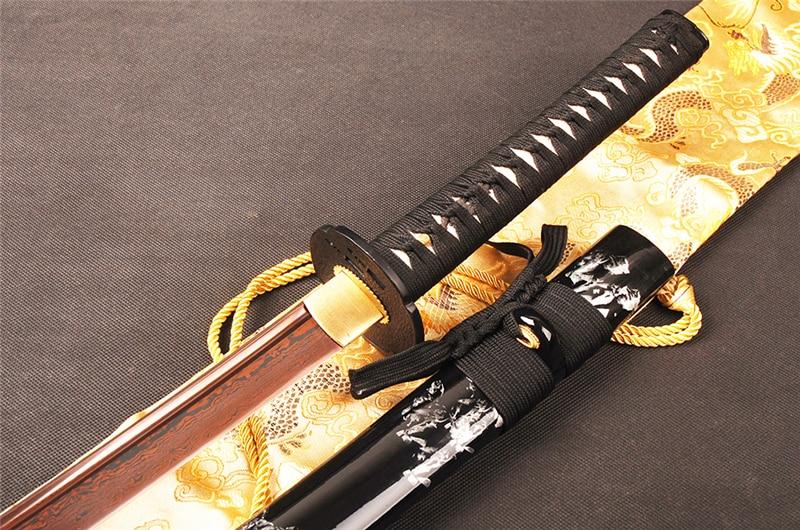 SHI JIAN Damaskus Stahl Japanisches Samurai Katana Schwert Sharp - Wohnkultur - Foto 2