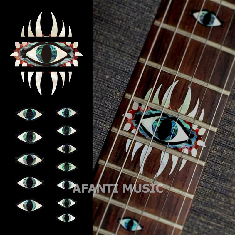 Afanti music Guitar Finger Board sticker / Shell sticker / Personality style Inlay (FPD-133) afanti music gib es335 style 4 strings bass guitar es335 b27