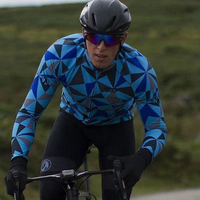 Stolen goat Long sleeve Orkaan Everyday LS Jersey Mens Blue cycling jersey bretelle ciclismo man MTB road bike racing clothing 3