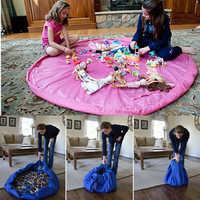 Tapete Infantil Novo Portátil Toy Kids Storage Bag and Play Mat Brinquedos De Armazenamento Organizador Bolsa Com Cordão Moda Prático