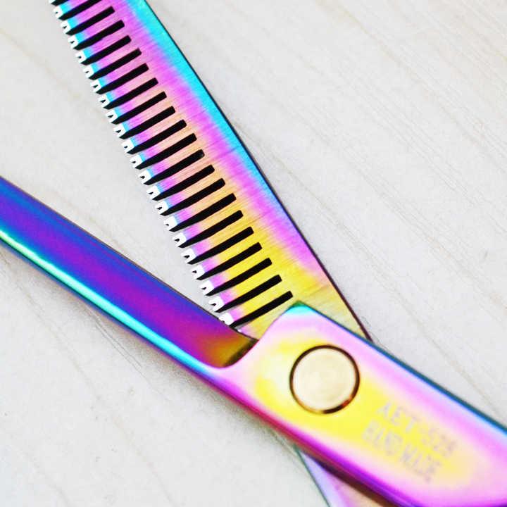 Ножницы для волос профессионального высокого качества 6,0 дюймов для стрижки волос 5,5 дюймов для истончения волос ножницы для правой руки набор для волос 11,11