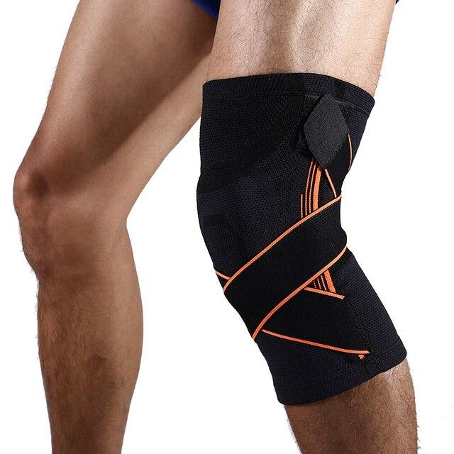 b5b2af7b83 1 pcs Knee Brace Support Adjustable Bandage Pressurization Silicone Knee  Pads Elastic Basketball Cycling Pro Knee Protector