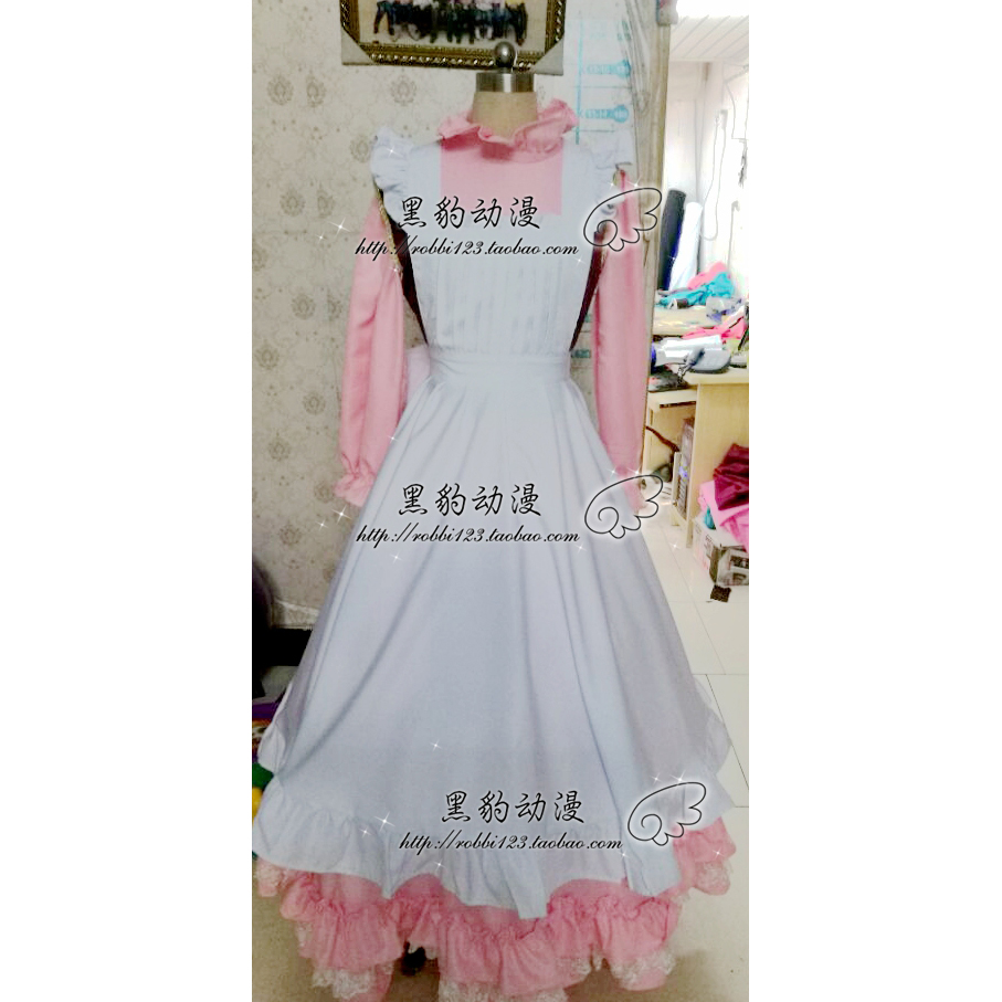 Lolita robe douce mignon Kawaii filles princesse demoiselle volants jupe rose femmes jupe Cosplay Costume H020