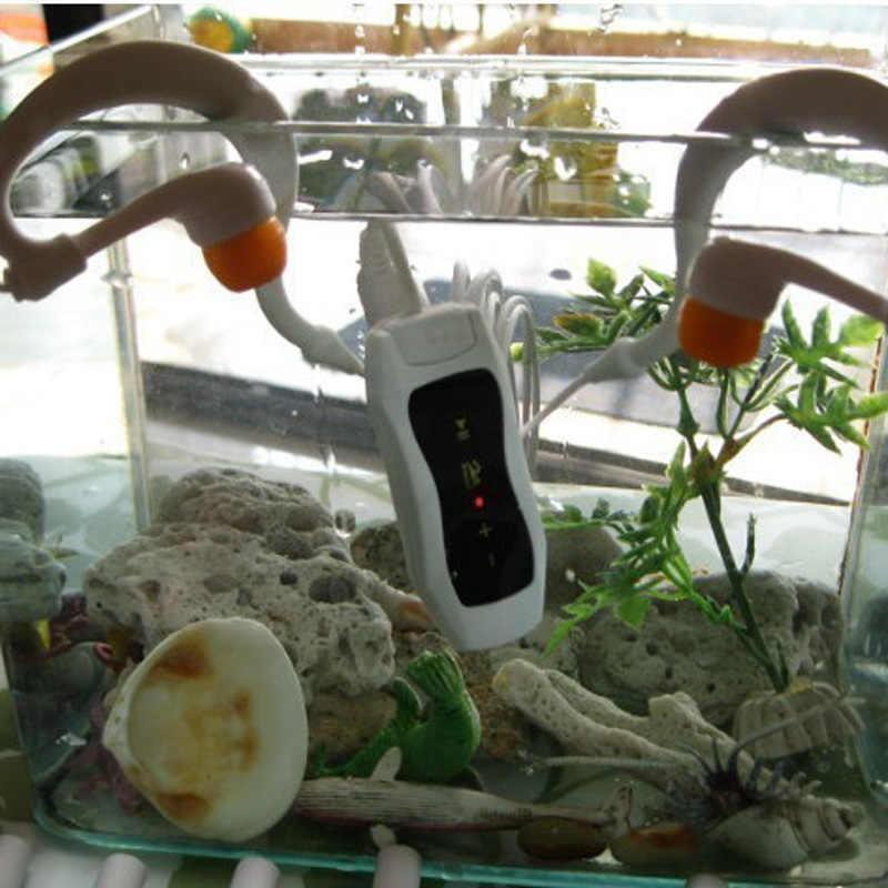 Najnowszy Radio FM 4GB 8G IPX8 wodoodporna MP3 odtwarzacz muzyczny pływanie nurkowanie słuchawki zestaw słuchawkowy Sport Stereo Bass pływać MP3 z klipsem
