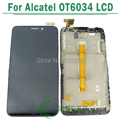 LCD Display +Digitizer touch Screen + Frame For Alcatel One Touch Idol S 6034 OT6034 6034R 6034Y 6034M