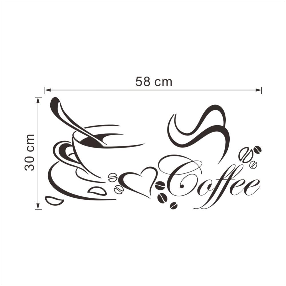 HTB1JWmLKFXXXXcRXVXXq6xXFXXXY - Coffee cup with heart vinyl Restaurant Kitchen wall Sticker