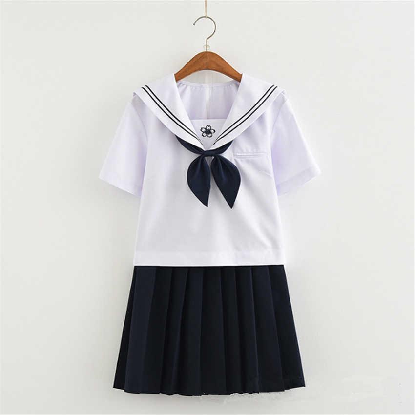 Schule Mädchen Rock Japanischen Stil JK Uniform Japan Mode College Sailor Kostüm Plissee Anime Pullover für Mädchen Kleidung