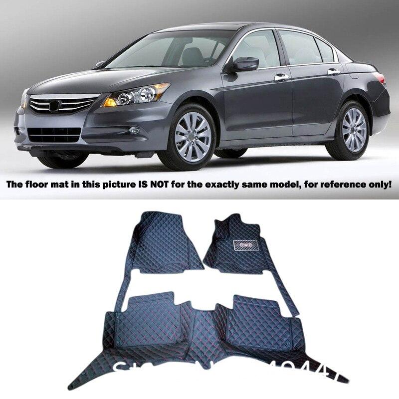 Interior Leather Custom Waterproof Car Styling Auto Floor Mats & Carpets Pads For Honda Accord 2008 2009 2010 2012