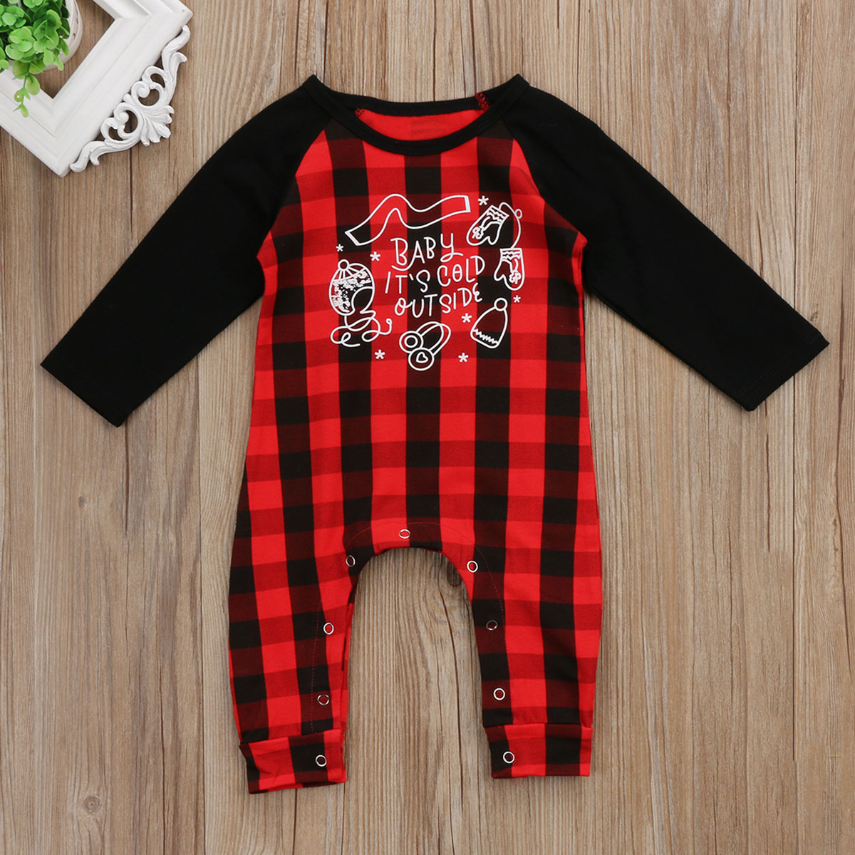 Toddler Newborn Baby Boy Girl Plaid Romper Jumpsuit Playsuit Long Sleeve Autumn Cotton Infant Clothes newborn infant baby boy girl cotton romper jumpsuit boys girl angel wings long sleeve rompers white gray autumn clothes outfit